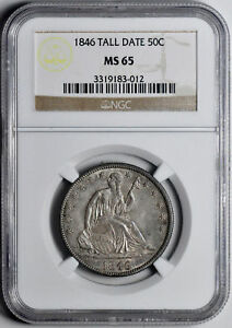 Click now to see the BUY IT NOW Price! 1846 LIBERTY SEATED 50C NGC MS 65