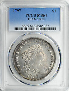 Click now to see the BUY IT NOW Price! 1797 BUST S$1 PCGS MS 64