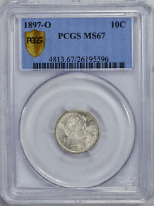 Click now to see the BUY IT NOW Price! 1897 O BARBER 10C PCGS MS 67