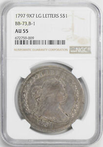 Click now to see the BUY IT NOW Price! 1797 DRAPED BUST $1 NGC AU 55
