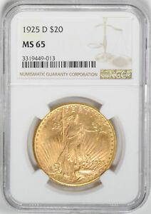 Click now to see the BUY IT NOW Price! 1925 D ST. GAUDENS $20 NGC MS 65