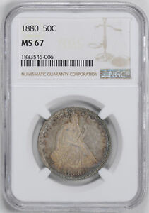 Click now to see the BUY IT NOW Price! 1880 LIBERTY SEATED 50C NGC MS 67
