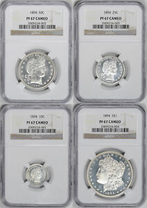 Click now to see the BUY IT NOW Price! 1894 PROOF SET NGC PR RAW CAM