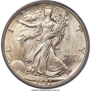 Click now to see the BUY IT NOW Price! 1921 S WALKING LIBERTY HALF DOLLAR.  PCGS GRADED MS64  OGH