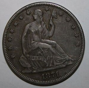 1871 SEATED SILVER HALF XC20