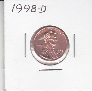 1998 D LINCOLN CENT