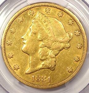 1884 CC LIBERTY GOLD DOUBLE EAGLE $20   PCGS XF DETAILS    CARSON CITY COIN