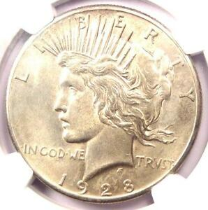 1928 PEACE SILVER DOLLAR $1   NGC UNCIRCULATED    1928 P BU MS UNC COIN