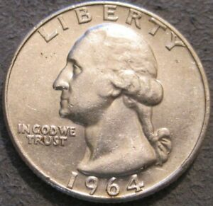 AS SHOWN   1964 D WASHINGTON QUARTER // 90  SILVER // MC 964