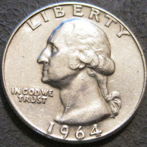 AS SHOWN   1964 D WASHINGTON QUARTER // 90  SILVER // MC 976