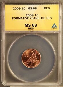 Click now to see the BUY IT NOW Price! 2009 1C LINCOLN CENTS FORMATIVE YEARS DD REV ANACS MS68 RED