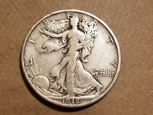 Click now to see the BUY IT NOW Price! 1918 S WALKING LIBERTY HALF DOLLAR SILVER COIN 50 CENTS WALKER 50C FINE VF