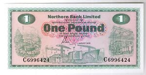 Click now to see the BUY IT NOW Price! 1978 NORTHERN BANK LIMITED NORTHERN IRELAND 1 POUND 1 NOTE P 187C CRISP UNC CU