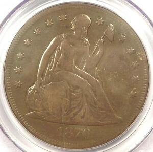 1870 CC SEATED LIBERTY DOLLAR $1   PCGS GENUINE   FINE/VF DETS. CARSON CITY COIN