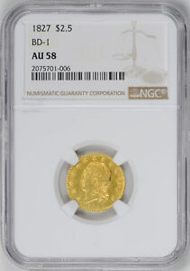 Click now to see the BUY IT NOW Price! 1827 CAPPED BUST $2.5 NGC AU 58