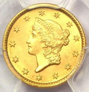 1853 LIBERTY GOLD DOLLAR COIN G$1   PCGS MS65    IN MS65   $3 200 VALUE