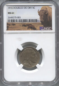 Click now to see the BUY IT NOW Price! 1916 BUFFALO NICKEL DOUBLED DIE OBVERSE NGC MS61