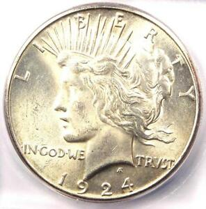 1924 S PEACE SILVER DOLLAR $1   CERTIFIED ICG MS64    IN MS64   $1 440 VALUE