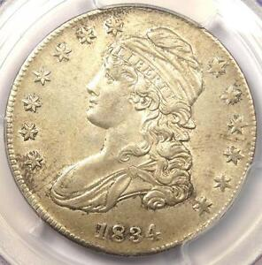 1834 CAPPED BUST HALF DOLLAR 50C SMALL DATE SMALL LETTERS   PCGS AU58
