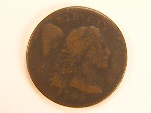 1795 1C LIBERTY CAP LARGE CENT PLAIN EDGE