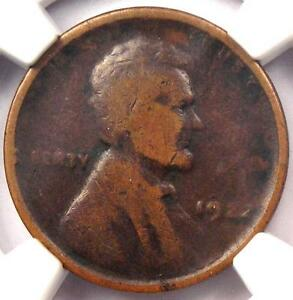 1922 NO D STRONG REVERSE LINCOLN WHEAT CENT 1C   NGC VG10