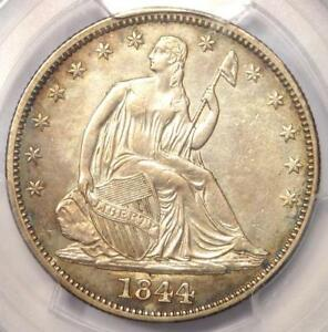 1844 SEATED LIBERTY HALF DOLLAR 50C   CERTIFIED PCGS AU DETAILS    COIN