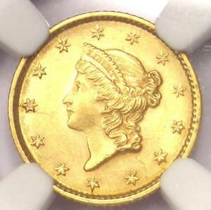 1853 LIBERTY GOLD DOLLAR COIN G$1   NGC UNCIRCULATED DETAIL    MS UNC COIN