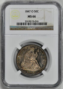 Click now to see the BUY IT NOW Price! 1847 O LIBERTY SEATED 50C NGC MS 66