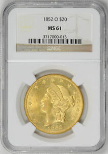 Click now to see the BUY IT NOW Price! 1852 O LIBERTY HEAD $20 NGC MS 61