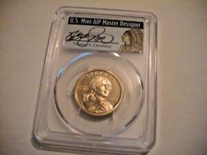 2003 S PCGS PR69DCAM NATIVE AMERICAN DOLLAR   THOMAS S. CLEVELAND SIGNED