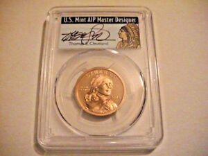 2004 S PCGS PR69DCAM NATIVE AMERICAN DOLLAR   THOMAS S. CLEVELAND SIGNED