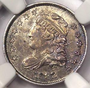 1832 CAPPED BUST HALF DIME H10C LM 3   NGC AU DETAILS    CERTIFIED COIN
