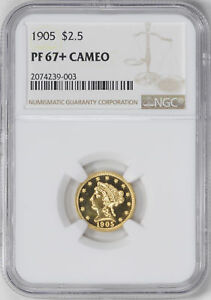 Click now to see the BUY IT NOW Price! 1905 LIBERTY HEAD $2.5 NGC PR 67  CAM
