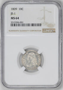 Click now to see the BUY IT NOW Price! 1809 CAPPED BUST 10C NGC MS 64