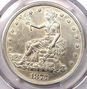 1877 S TRADE SILVER DOLLAR T$1   CERTIFIED PCGS AU DETAIL    CERTIFIED COIN