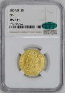 1809/8 CAPPED BUST $5 NGC MS 63