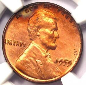 1955 DOUBLED DIE OBVERSE LINCOLN CENT 1C DDO   NGC UNCIRCULATED DETAIL  UNC MS