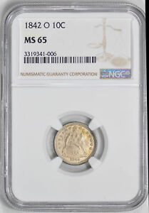 Click now to see the BUY IT NOW Price! 1842 O LIBERTY SEATED 10C NGC MS 65