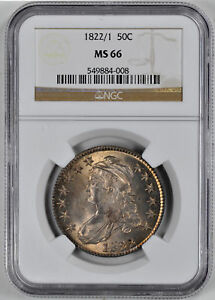 Click now to see the BUY IT NOW Price! 1822/1 CAPPED BUST 50C NGC MS 66