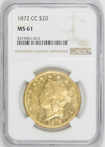 Click now to see the BUY IT NOW Price! 1872 CC LIBERTY $20 NGC MS 61