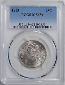 Click now to see the BUY IT NOW Price! 1815 CAPPED BUST 25C PCGS MS 65