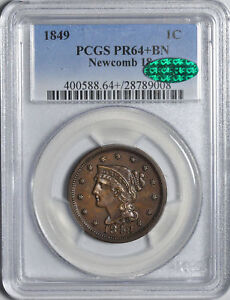 Click now to see the BUY IT NOW Price! 1849 BRAIDED HAIR 1C PCGS PR 64