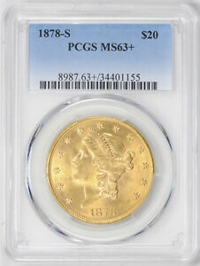 Click now to see the BUY IT NOW Price! 1878 S LIBERTY HEAD $20 PCGS MS 63