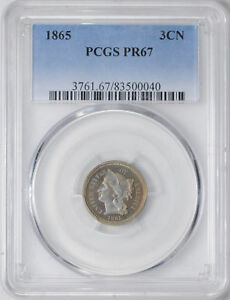 Click now to see the BUY IT NOW Price! 1865 NICKEL 3CN PCGS PR 67