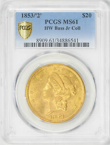 Click now to see the BUY IT NOW Price! 1853 LIBERTY HEAD $20 PCGS MS 61