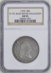 Click now to see the BUY IT NOW Price! 1794 FLOWING HAIR 50C NGC AU 55