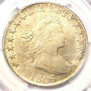 1806/5 DRAPED BUST HALF DOLLAR 50C   CERTIFIED PCGS XF DETAILS  EF     COIN