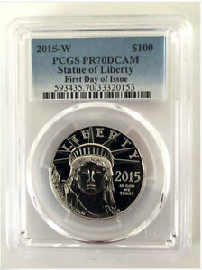 Click now to see the BUY IT NOW Price! 2015 W 1 OZ PLATINUM AMERICAN EAGLE PROOF COIN PCGS PR 70 FIRST DAY OF ISSUE