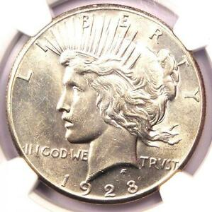 1928 PEACE SILVER DOLLAR $1   NGC UNCIRCULATED DETS    1928 P BU MS UNC COIN
