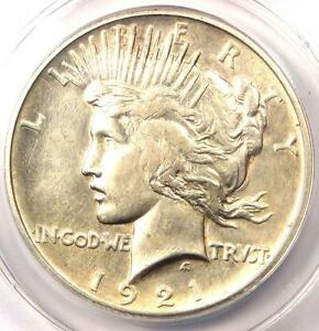 1921 PEACE SILVER DOLLAR $1   CERTIFIED ANACS AU58 DETAILS    KEY DATE COIN